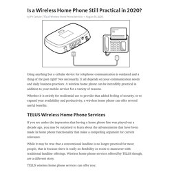 Is a Wireless Home Phone Still Practical in 2020?