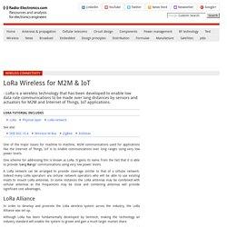 LoRa Long Range M2M IoT