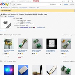 12 10 5mm Ask Wireless RX Receiver Modules 5V 433MHz 108DBM Super Heterodyne