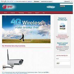 Wireless Security Cameras with a built-in 4G Cellular Modem