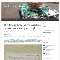 Dirt Cheap Low Power Wireless Sensor Node using nRF24L01+ 2.4GHz