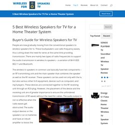 wireless tv speakers