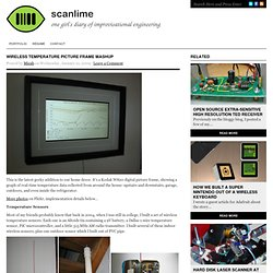 Wireless temperature picture frame mashup : scanlime