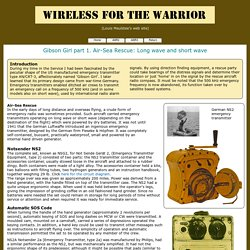 Wireless for the Warrior - Gibson Girl main page