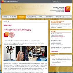 WirePrint - Hasso-Plattner-Institut