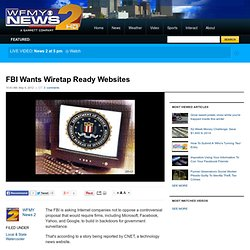 FBI Wants Wiretap Ready Websites