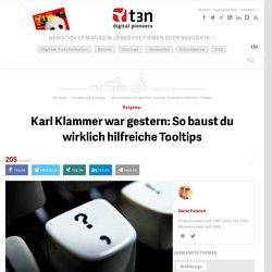 Karl Klammer war gestern: So baust du wirklich hilfreiche Tooltips