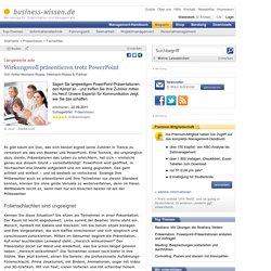 Langeweile ade: Wirkungsvoll präsentieren trotz PowerPoint