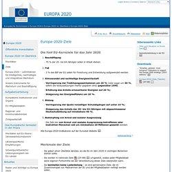 Europa2020 – EU-Kernziele für das Wirtschaftswachstum - Europäische Kommission