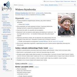 Wisława Szymborska – Wikicytaty