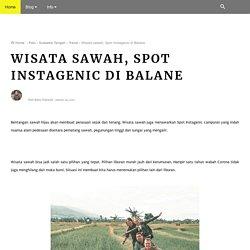 Wisata sawah, Spot Instagenic di Balane