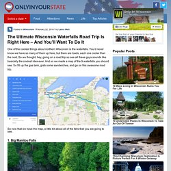 Wisconsin Waterfalls Road Trip
