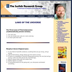 Wisdom and Humor: The Suslick Research Group