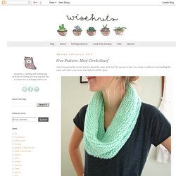 Free Pattern: Mint Circle Scarf