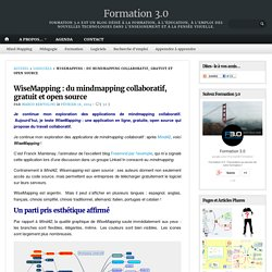 WiseMapping : du mindmapping collaboratif, gratuit et open source