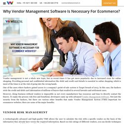 Why Vendor Management Software Is Necessary For Ecommerce?