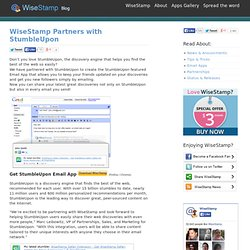 Partners with StumbleUpon