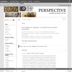Art wisigoth en Hispania: en quête d'une révision nécessaire