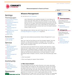 Wissens-Management