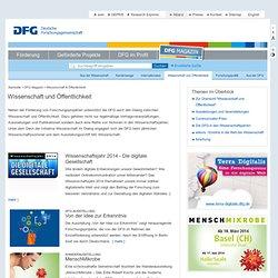 DFG - Wissenschaft und Öffentlichkeit