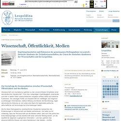Wissenschaft, Öffentlichkeit, Medien (17.06.2014)
