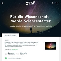 Sciencestarter Crowdfunding - Start