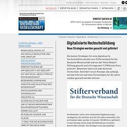 Digitalisierte Hochschulbildung: Wissenschaftsjahr 2014 - Die Digitale Gesellschaft