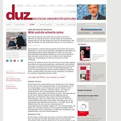 Wiki und die schnelle Lehre - duz Magazin - duz - unabhängige deutsche Universitätszeitung - Magazin für Forscher und Wissenschaftsmanager