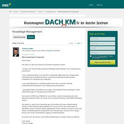 WIssensdatenbank 2.0 gesucht - Knowledge Management
