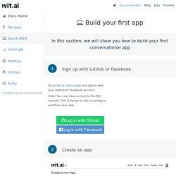 Wit — Quick start