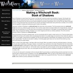 Witchcraft Book: Book of Shadows
