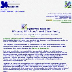 Syncretic Relgion: Wiccans, Witchcraft, and Christianity