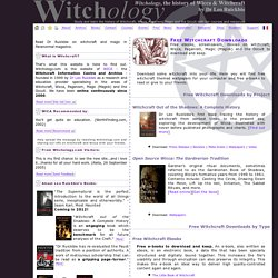 Free Witchcraft Downloads: ebooks, pictures, movies