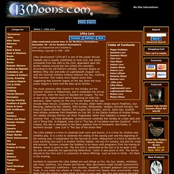 Litha Lore : 13 Moons, Witchcraft, Wicca and Hoodoo Supplies