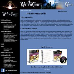 Witchcraft World - Witchcraft Spells