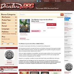 The Witcher, le jeu de rôle officiel en Mode Facile - Arkhane Asylum Publishing