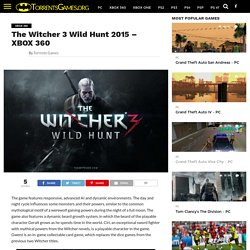 The Witcher 3 Wild Hunt 2015 - XBOX360