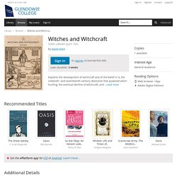 Witches and Witchcraft - Glendowie College