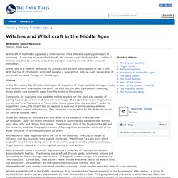 Witches and Witchcraft in the Middle Ages