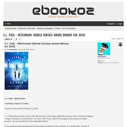 C.L. Polk - Witchmark (World Fantasy Award Winner for 2019) - eBookoz