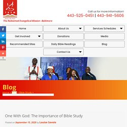 One With God: The Importance of Bible Study