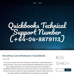 Quickbooks Technical Support NZ (+64-04-8879113)