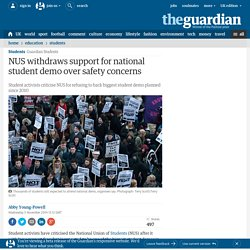 NUS withdraws support for national student demo over safety concerns