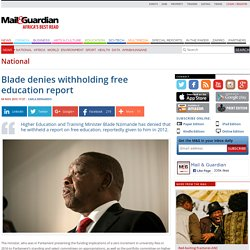 Blade denies withholding free education report
