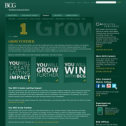 Within BCG or beyond, our people make a difference. How far will you grow?