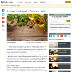 Well Within You - Increase Your Immunity: Foods and Herbs
