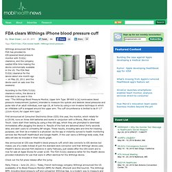 FDA clears Withings iPhone blood pressure cuff