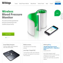 Withings - Withings - La balance connectée (poids, IMC, masse gr