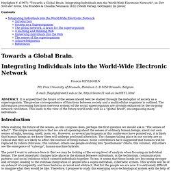 Towards a Global Brain