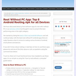 Root Without PC App: Top 8 Android Rooting Apk for all Devices